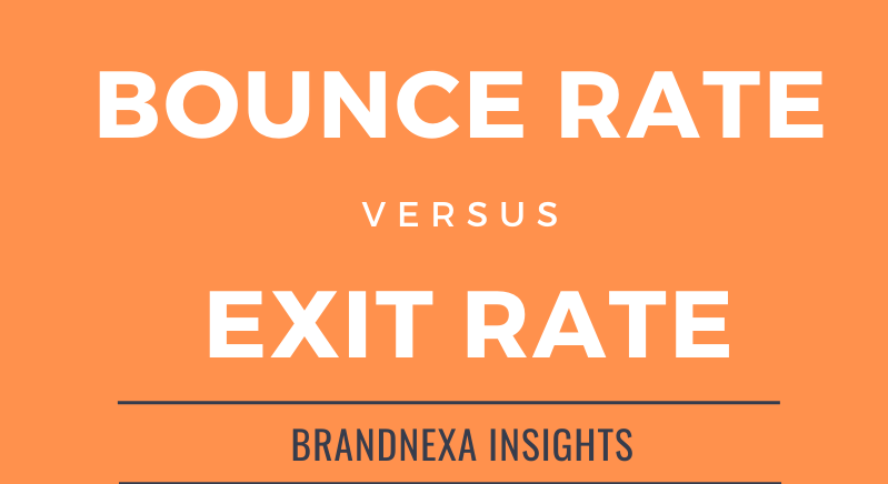bounce rate verses exit rate