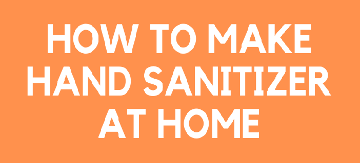 How to prepare a sanitizer at home
