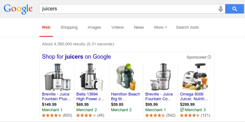 Google Includes Free Product Listings in Shopping Results
